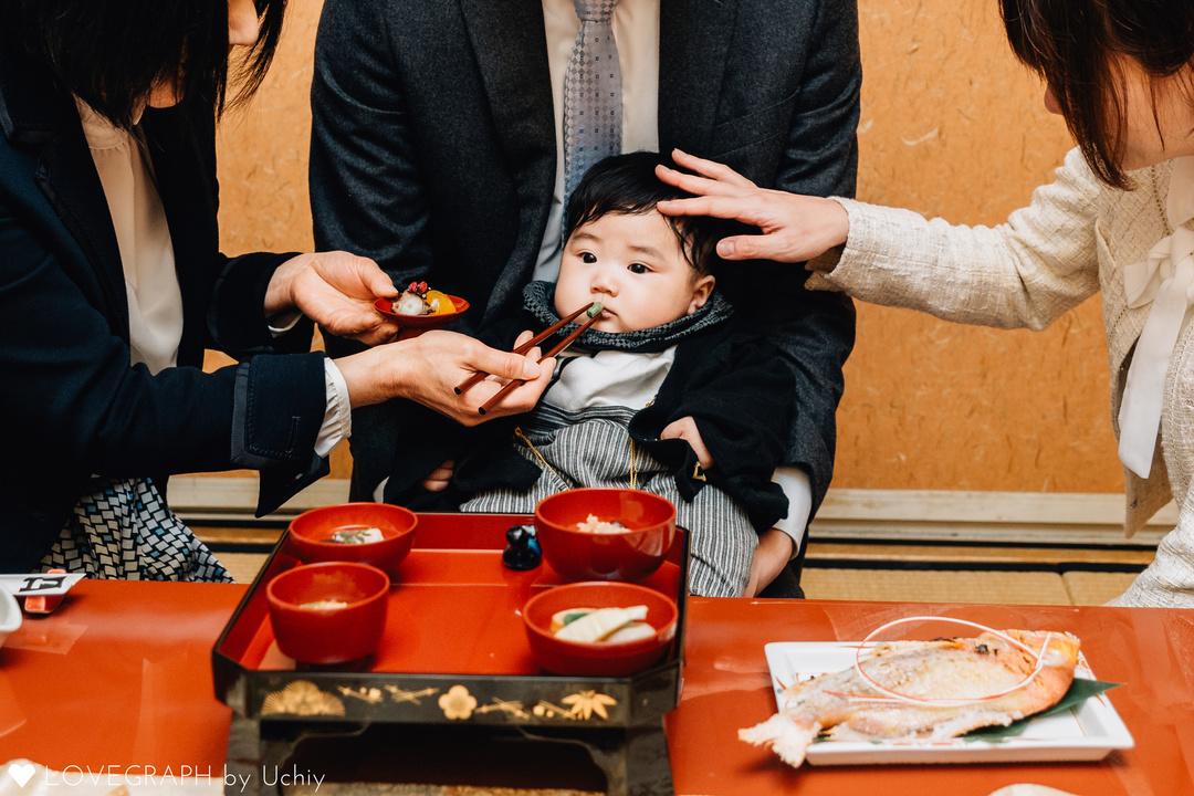 生後100日の儀式『お食い初め』を一生残る素敵な写真に♪  6番目の写真