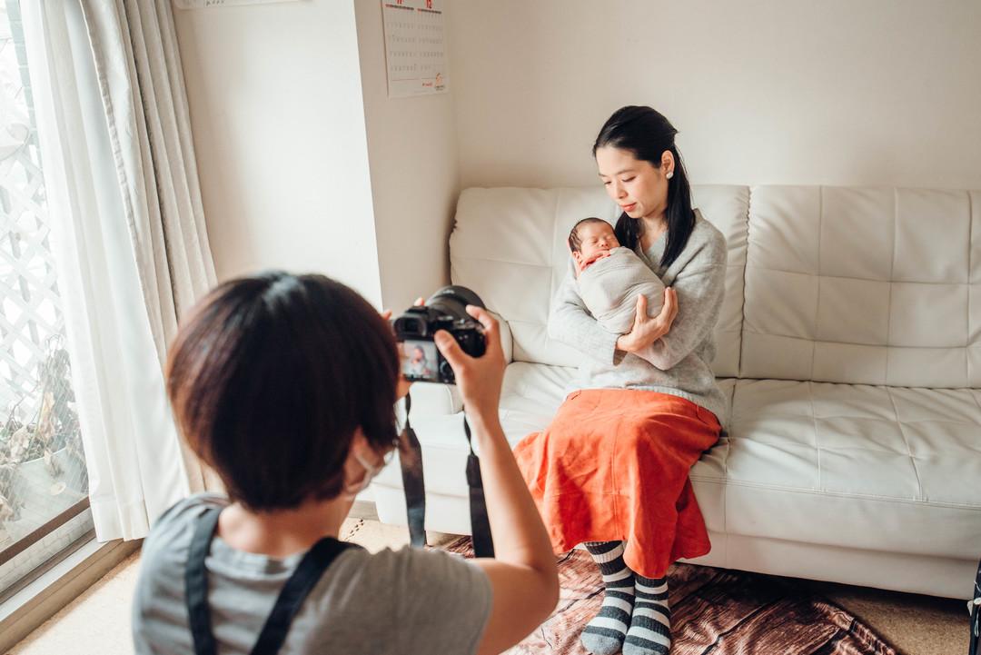 """赤ちゃんがうまれた喜びを形に残す""""アートニューボーンフォト""""の撮影に密着♩撮影同行レポートvol.2  11番目の写真"""