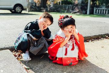 七五三 Sosuke×Minori | 家族写真(ファミリーフォト)