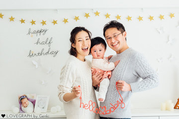 Half Birthday | 家族写真(ファミリーフォト)