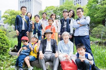 隆子さんの古希お祝い | 家族写真(ファミリーフォト)