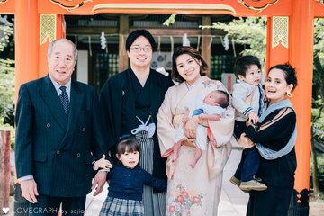 kaneko kohken omiyamairi | 家族写真(ファミリーフォト)