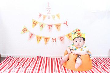 ASAHI HALF BIRTHDAY | 家族写真(ファミリーフォト)