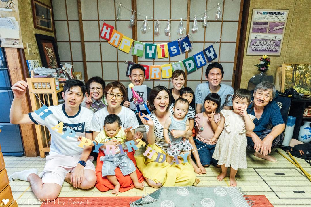 Happy birthday 1st | 家族写真(ファミリーフォト)