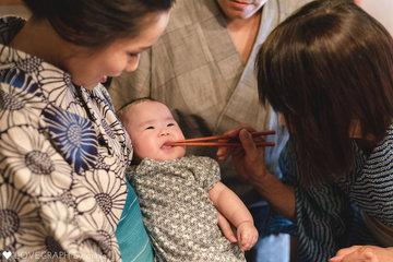 お食い初め~Ayana~ | 家族写真(ファミリーフォト)