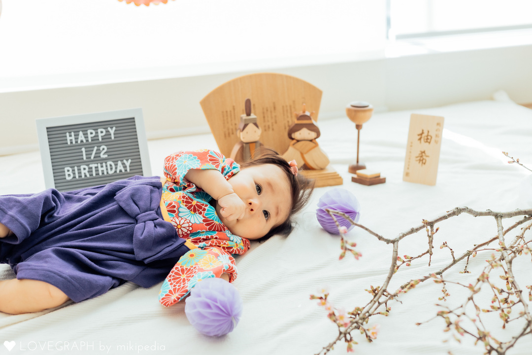 Yuzu 1/2 Birthday    家族写真(ファミリーフォト)