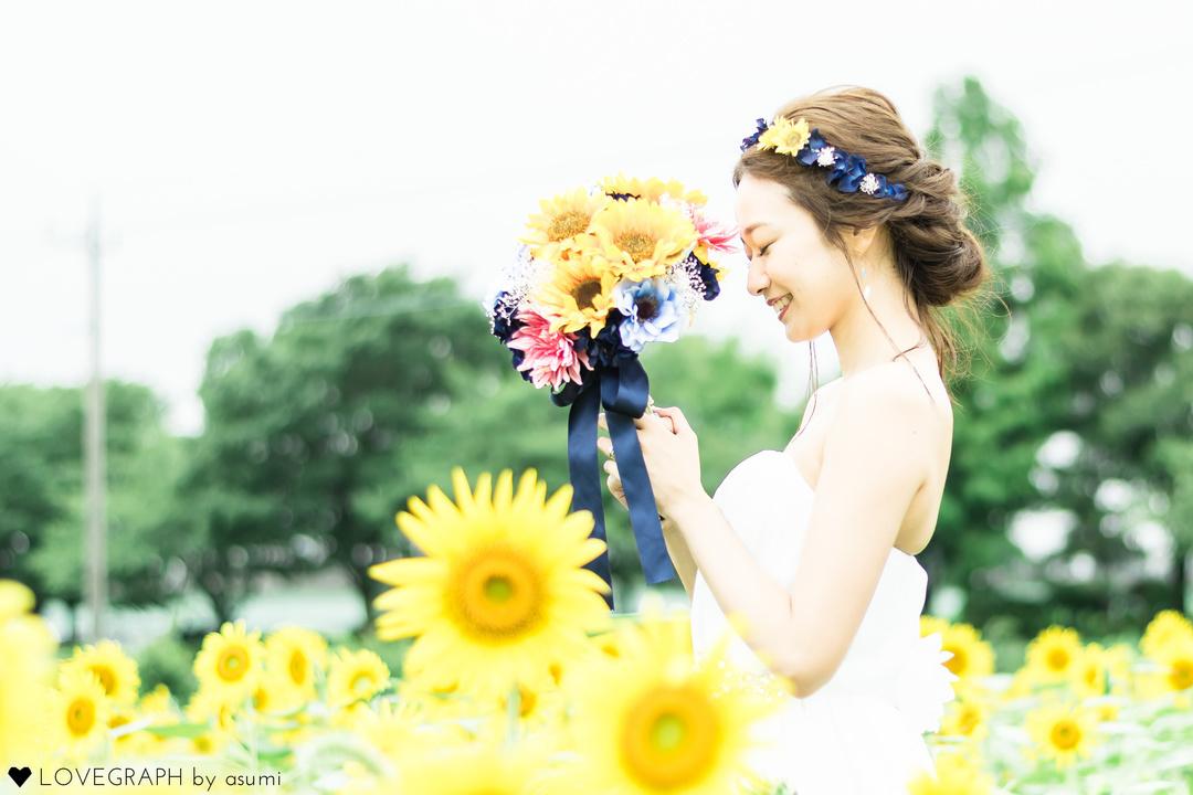 Mika×Takeshi himawari wedding | 夫婦フォト