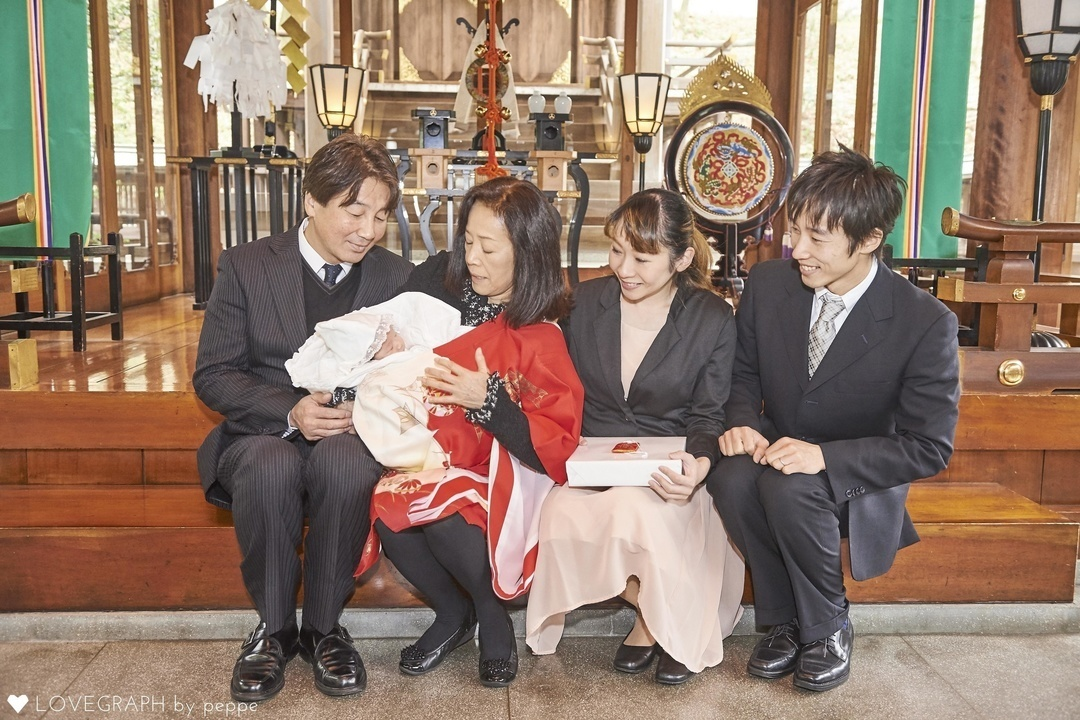 3ee876f739105 お宮参りに行く時期はいつ? Okamoto family